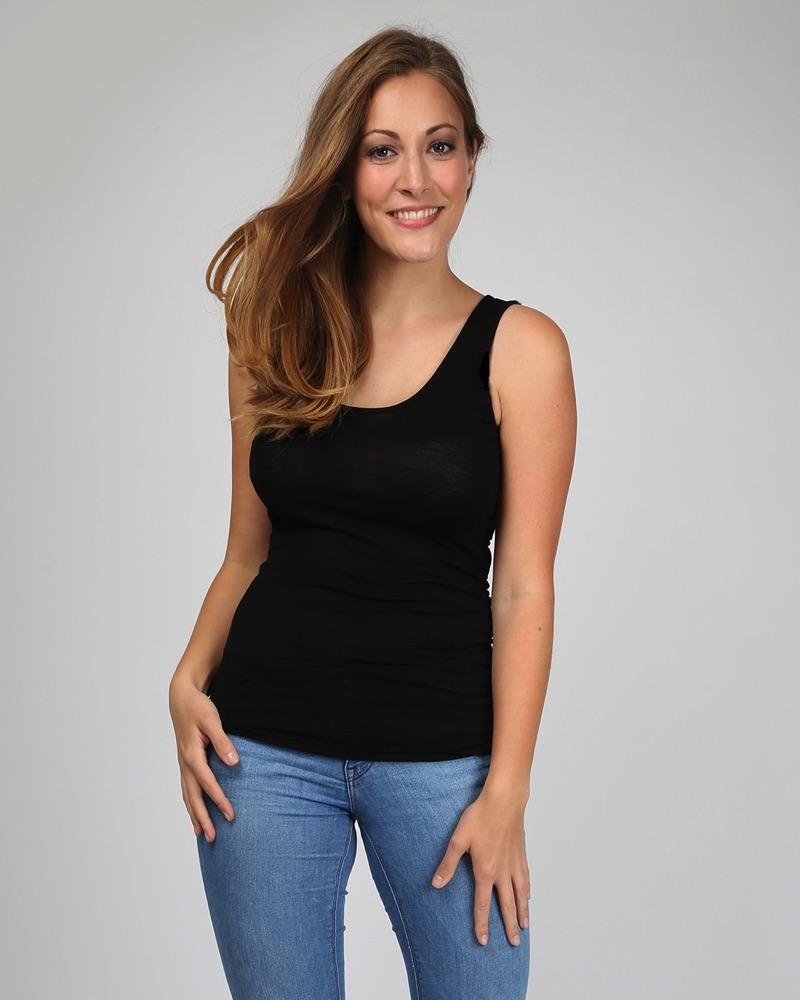 Viscose Classic Vest - Black