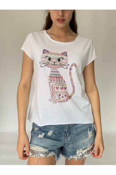 Cat Sparkle T-Shirt