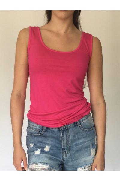 Pink Plain Vest