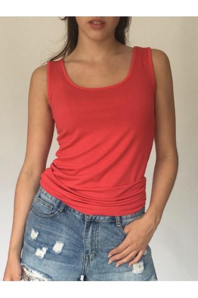 Red Plain Vest