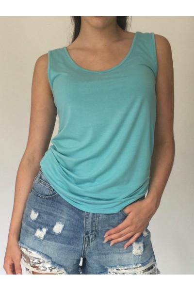 Turquoise Plain Vest