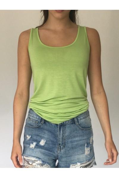 Lime Green Plain Vest
