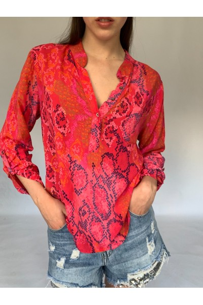 Red Easy Blouse