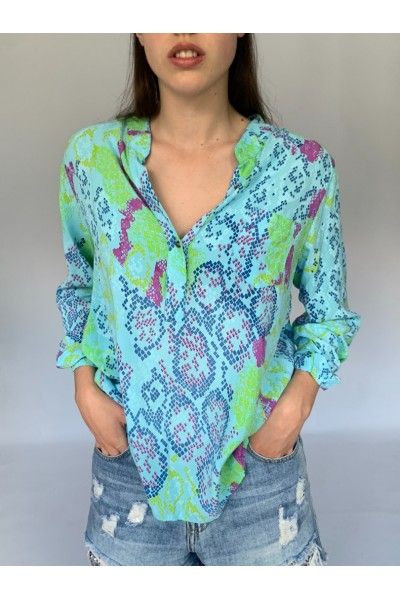 Turquoise Easy Blouse