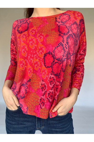 Red Reptile Easy Jersey Top