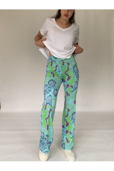 Reptile Jersey Flares