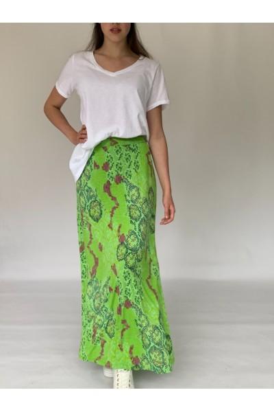 Green Reptile Maxi Skirt