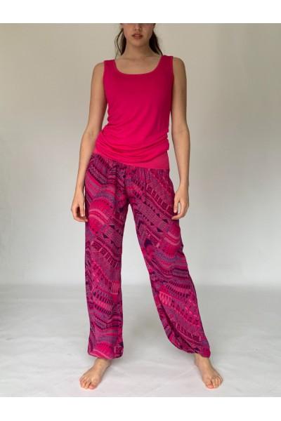 Pink Aztec Slouchies