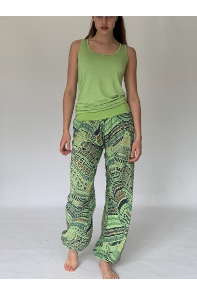 Lime Green Aztec Slouchies