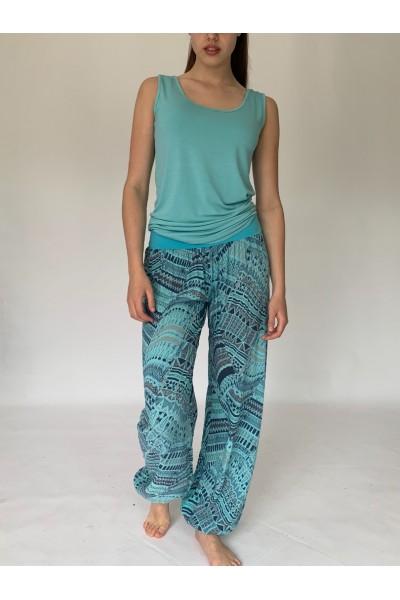 Turquoise Aztec Slouchies