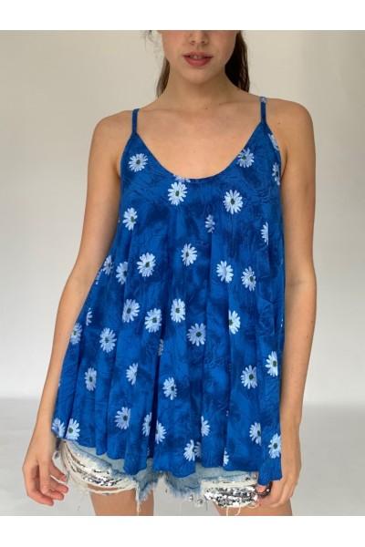 Royal Blue Daisy Cami