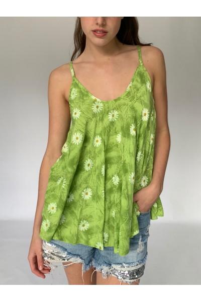 Lime Green Daisy Cami