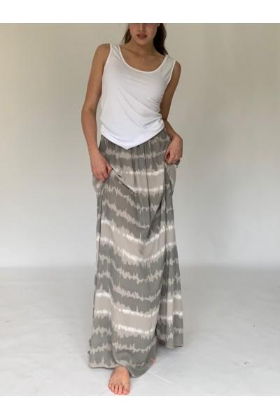 Fango Tie Dye Extra Long Maxi Skirt
