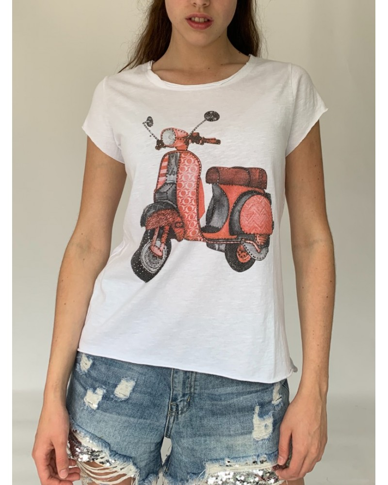 Red Scooter Sparkle T-Shirt