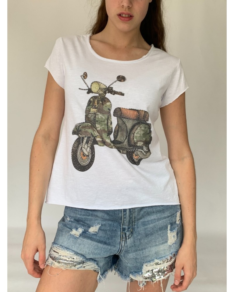 Military Scooter Sparkle T-Shirt