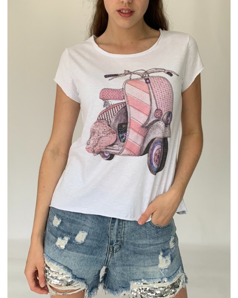 Pink Scooter Sparkle T-Shirt