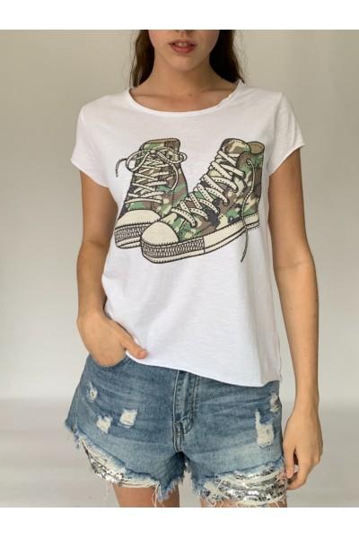 Military Sneaker Sparkle T-Shirt
