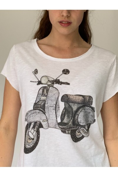 Grey Scooter Sparkle T-Shirt