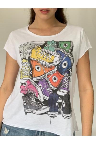 Multi Sneaker Sparkle T-Shirt