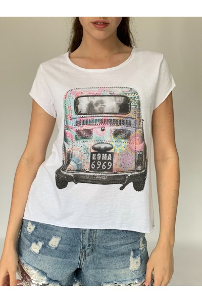 Colourful Taxi Sparkle T-Shirt