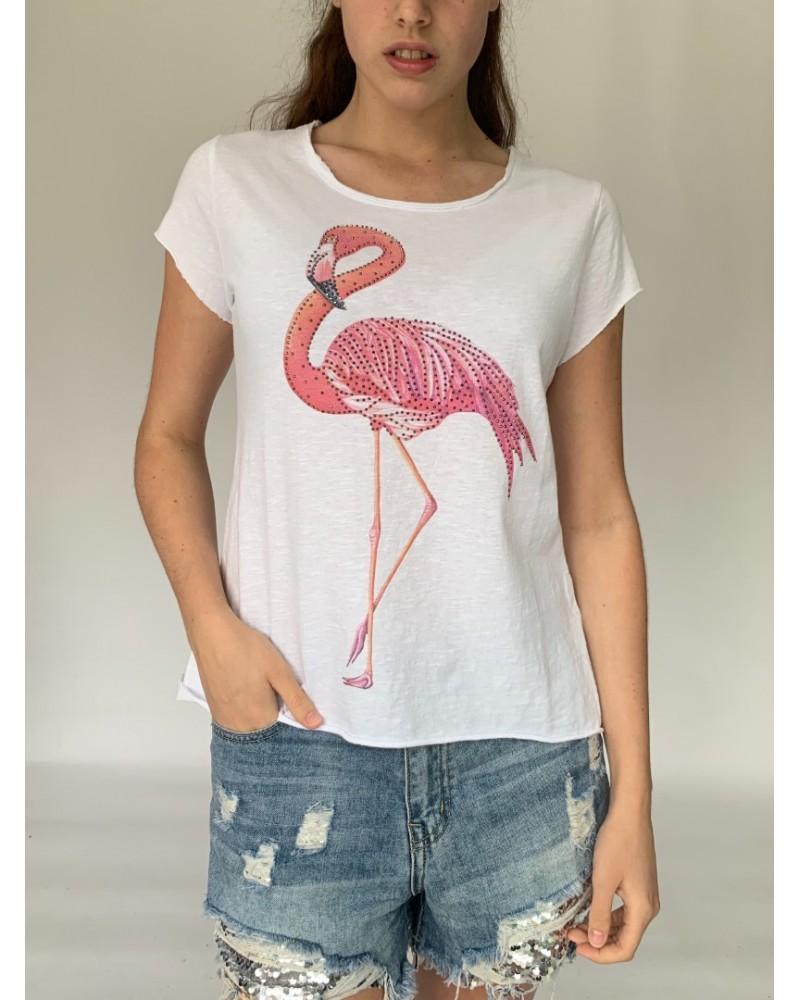 Single Flamingo Sparkle T-Shirt