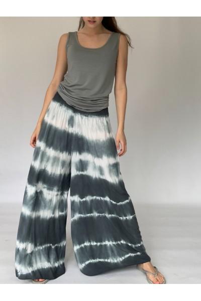 Grey Tie Dye Culottes